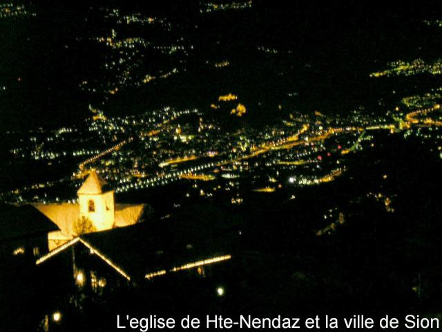 Nachtpanorama von Haute-Nendaz