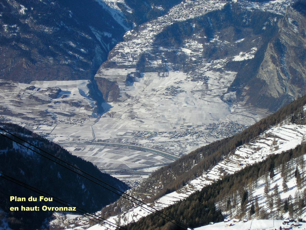 Ovronnaz und Rhonetal :  v. Plan du Fou