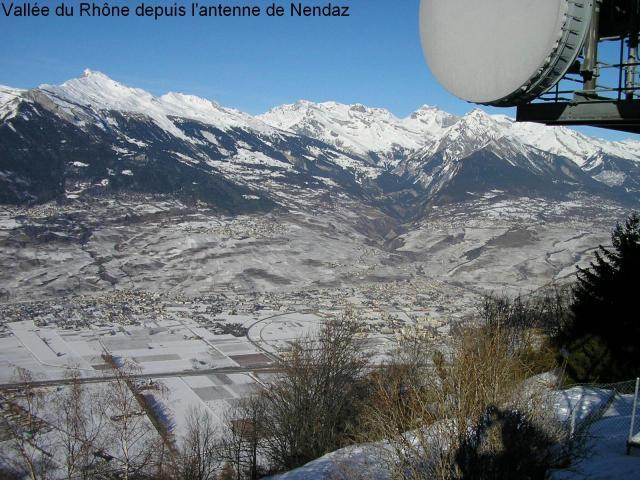 Panorama Nord von der Antenne in Haute-Nendaz