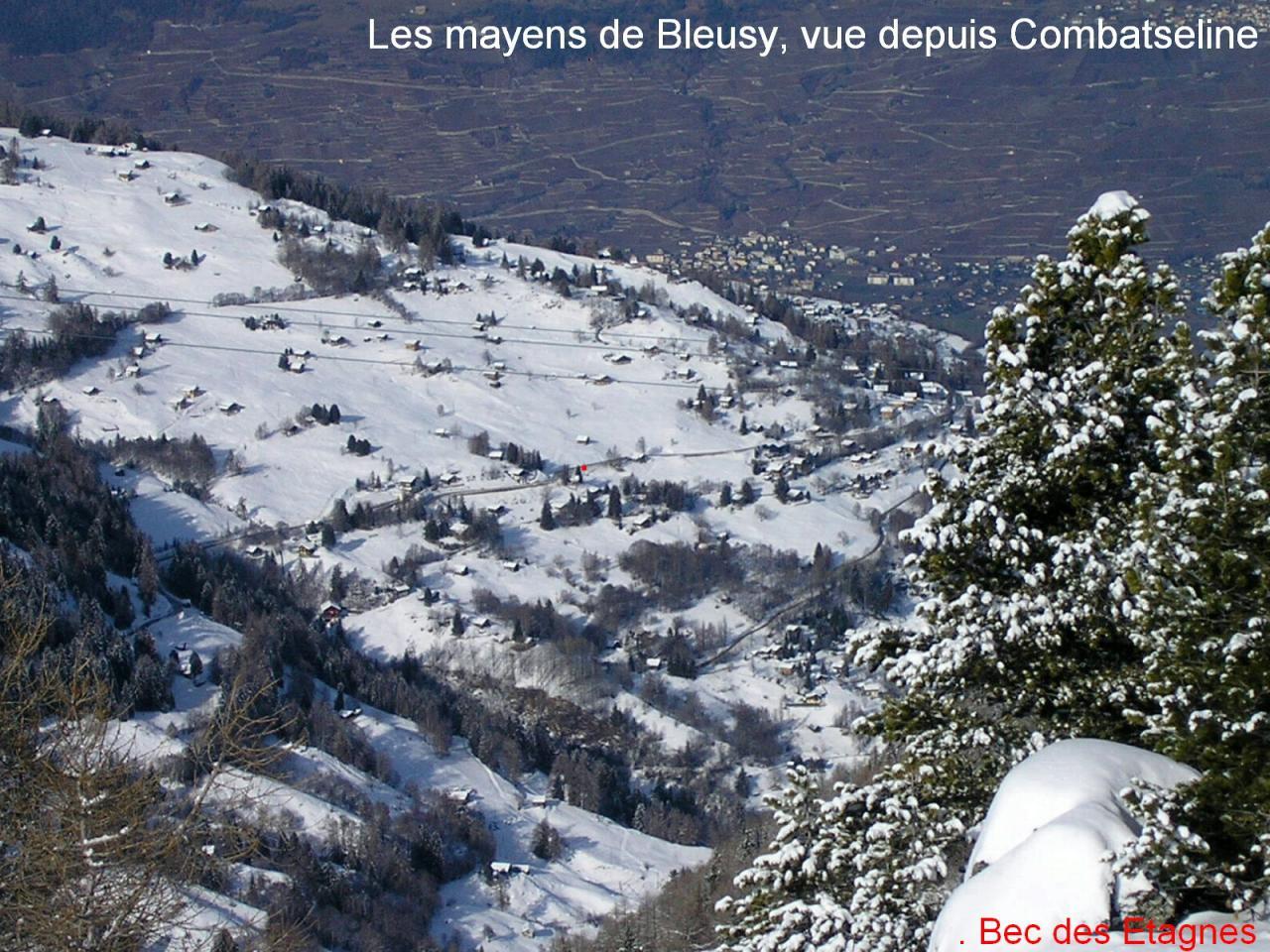 Bec des Etagnes (roter Punkt) von Combatseline .