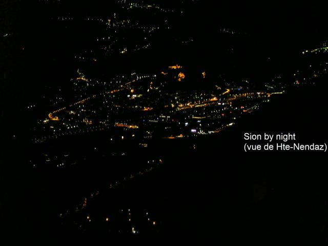 Sion by night